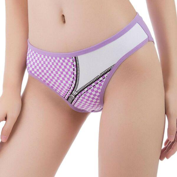 Damen Slips Baumwolle Panty Set Hipster 5/6er Panties Pack Unterhose Zipper
