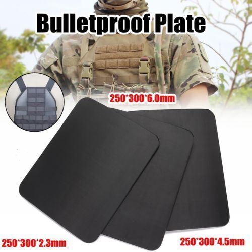 Bulletproof Plate Ballistic Panel Inserts Body Armor Tactical Predector Shield