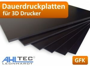 GFK Dauerdruckplat<wbr/>te 3D Drucker Druckplatte für ABS PLA PETG HIPS PMMA Filament