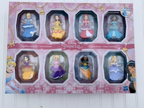 Disney Princess Sparkling Styles Small Doll Set of 8  Royal Clips NEW