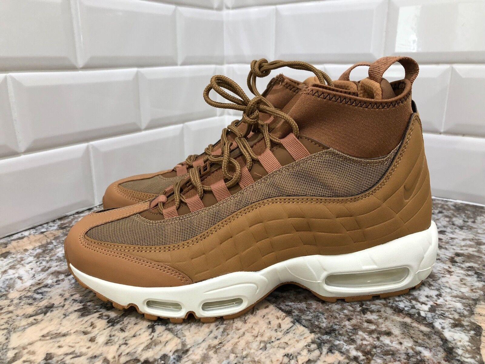 Nike air max 95 sneakerboot grano, lino ale brown gomma 806809-201 sz