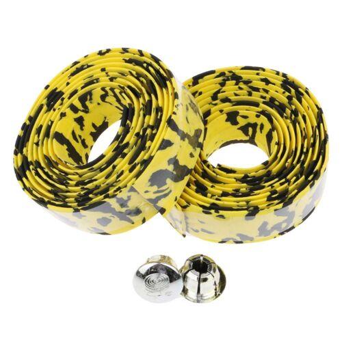 2Pcs Antiskid Sponge Road Bike Bicycle Handbar Strap Tape Wrap Bar Plug Bandage