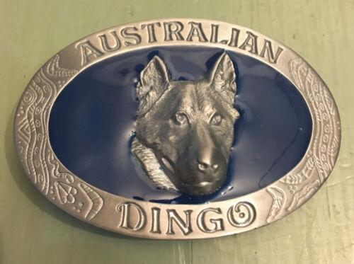 "AUSTRALIAN DINGO BELT BUCKLE APPROXIMATELY 3 1//4/"" X 2 1//4/"""