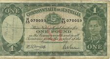 Commonwealth of australia one pound legal tender currency note 1 pound