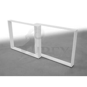 Pieds-de-table-table-Patin-Table-Chassis-Table-Sous-Chassis-Patin-Chassis-Blanc