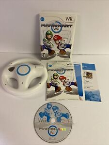 Mario Kart (Wii, 2008) With OEM Wii Steering Wheel Complete Tested FREE SHIPPING