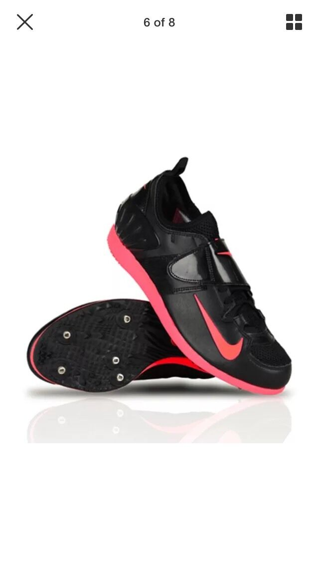 Nike zoom fv ii palo spuntoni scarpe nero rosso atomica 317404-060 Uomo