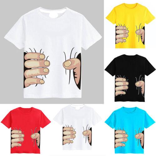 Kids Girl Boys 3D Print T-Shirt Summer Short Sleeve Tee Shirts Casual Funny Tops
