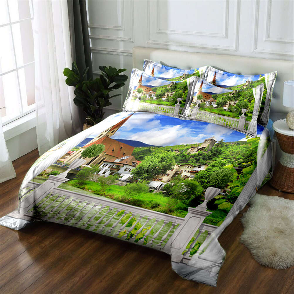 Unadorned Country 3D Printing Duvet Quilt Doona Covers Pillow Case Bedding Sets