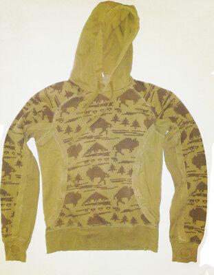 Felpa Divided H&m Unisex Taglia M (s) Beige-marrone Con Tasche Front-mostra Il Titolo Originale