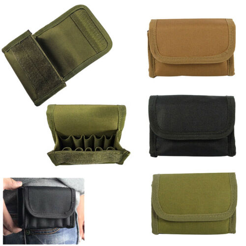 Tactical Molle Hunting Rifle Shotgun Bullet Stock Ammo Pouch Holder Bag 12//20GA