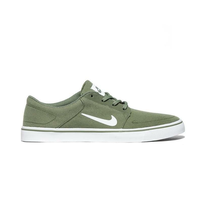 Mens NIKE SB PORTMORE CANVAS Palm Grün Trainers 723874 311