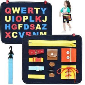 Toddler occupé Board Montessori compétences de Base Board Educational Learning Toys Kid