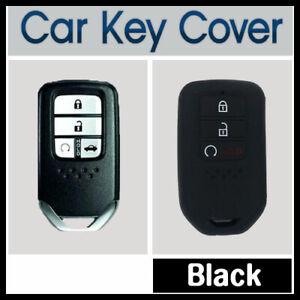 Car-Key-Cover-Case-Protector-Fits-Honda-Accord-CRV-Civic-3-Button-Remote-BLACK