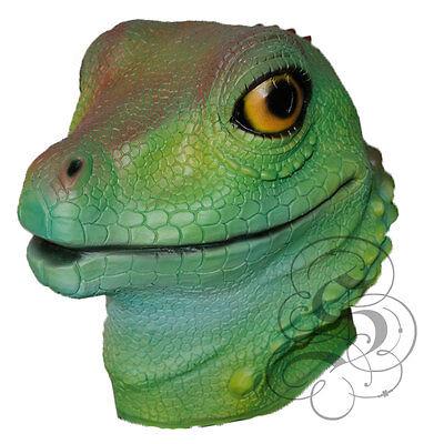 Lizard Mask Iguana Reptile Animal Halloween FULL Latex Face Head Adult Size NEW