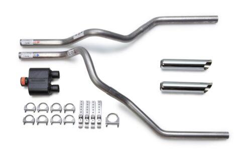 2009-2014 Dodge Ram Dual Exhaust Kit Flowmaster Super 10 Muffler Chrome Tips