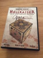 Signed Clive Barker Hellraiser (dvd, 2007, 20th Anniversary Edition) + Photo