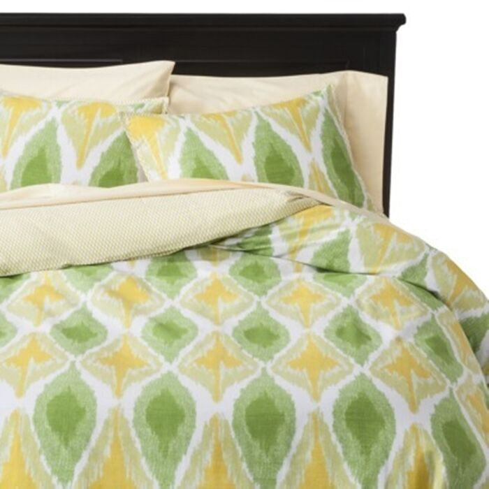 Threshold Yellow Green F Q Duvet Cover Set 3 pc set yellow green nwop