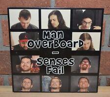 "SENSES FAIL MAN OVERBOARD - Ltd Split 7"" BLUE/BLACK SMASH VINYL + Download"