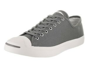 Converse Jack Purcell Canvas OX Cool Grey Low Top Sneaker 161635C  cc4cc5293
