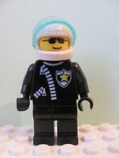 LEGO Minifig cop005 @@ Police Zipper Sheriff Star Helmet 1786 3314 6545 6398 659