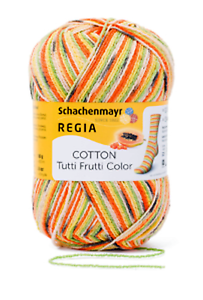 Regia Tutti Frutti color calcetines lana 100g color 02417 papaya