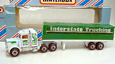 "Matchbox Convoy CY5 Peterbilt Covered Truck ""Interstate Trucking"" bespielt"