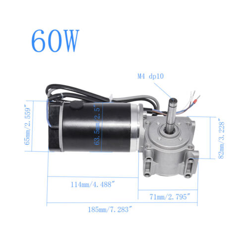 24V 60W//100W Automatic Door DC Worm Gear Motor with Encoder Brushed Motor