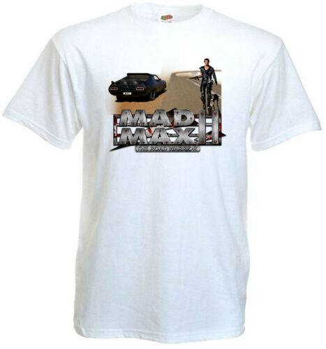 Mad Max II The Road Warrior v4 T-shirt white movie poster all sizes S...5XL