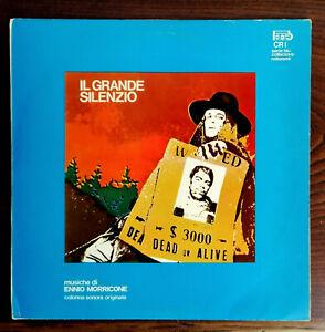 OST WESTERN  DI ENNIO MORRICONE LP IL GRANDE SILENZIO BEAT RECORDS CR1 NEAR MINT