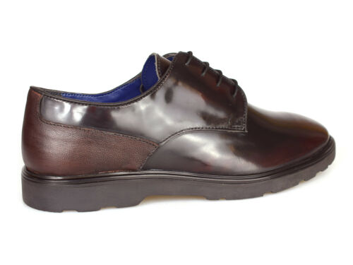 Silver Street London Ruskin Oxblood Patent Leather Shoes RRP £70 Free UK P/&P!