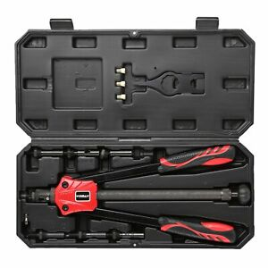 "15/"" Rivet Nut Tool-Hand Riveter Gun Nut Setter Kit Metric /& SEA Mandrels 7 PC"