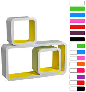 Wall-Shelves-Floating-Wall-Mounted-Shelf-MDF-Set-of-3-Cube-Yellow-URG9229gb