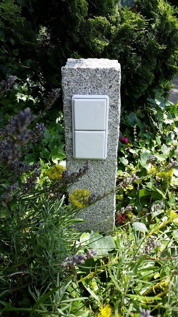 Quattro volte presa da giardino in granito palizzata, presa esterno, portandola