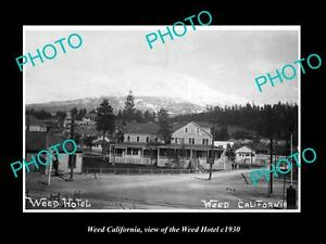 OLD-LARGE-HISTORIC-PHOTO-OF-WEED-CALIFORNIA-VIEW-OF-THE-WEED-HOTEL-c1930
