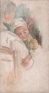 MARCUS-ADAMS-Watercolour-Painting-IMPRESSIONIST-MOTHER-amp-CHILD-c1930