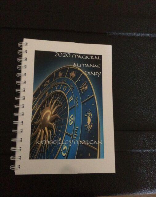 2020 MAGICKAL DIARY &ALMANAC Kimberley Morgan -Wicca Magick Pagan.