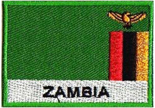 Ecusson badge patche drapeau ZAMBIE 70//45 mm patch pays Afrique Monde