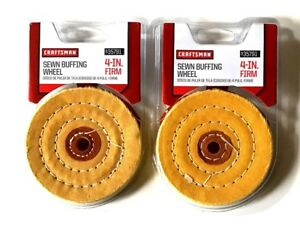 2 Craftsman 4 Quot Sewn Buffing Wheel Pad Firm 1 2 Arbor Bench