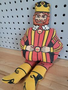 "Vintage 70's Burger King Mascot Promotional Advertising Plush Toy Doll 13"""