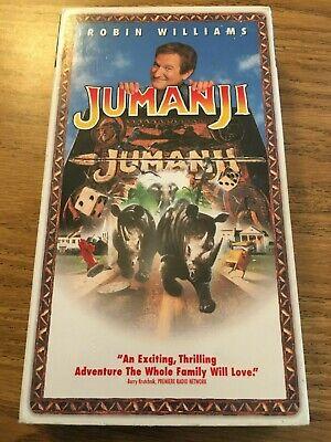 Jumanji (VHS, 1996) Robin WIlliams, Bonnie Hunt ...