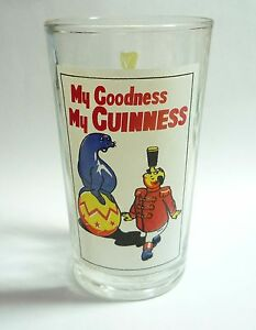 GUINNESS-STOUT-Vintage-Beer-Clear-GLASS-My-Goodness-SEAL-Balance-MALAYSIA-Rare