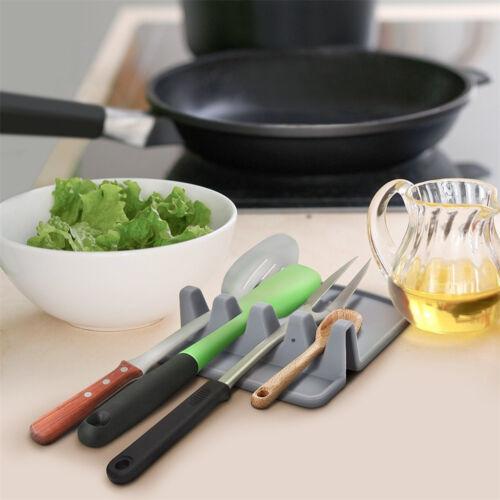 Cuisine en Silicone Cuillère Plateau anti-adhérent Chaleur Ustensiles de Cuisine Tapis Spoon Tray