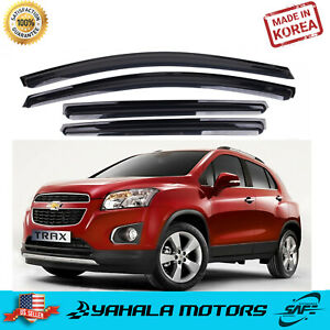 SAFE Smoked Window Visor Sun Rain Vent Guard 4p for 2013-2015 Chevrolet Spark