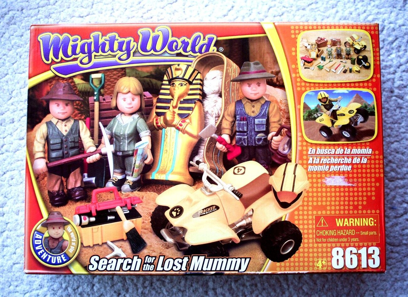 VHTF, MIGHTY WORLD (Adventure Series)  SEARCH FOR LOST MUMMY. BRAND NEW IN BOX