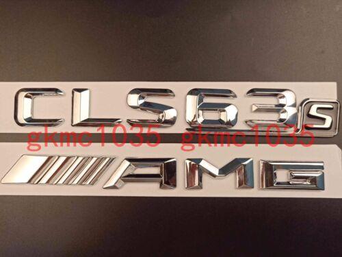 CHROME CLS63S AMG REAR BOOT EMBLEM BADGE STICKER FOR MERCEDES BENZ CLS CLASS AMG