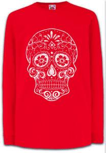 Mexican-Skull-V-Kinder-Langarm-T-Shirt-Mexico-Latino-Mexiko-Schaedel-Totenkopf