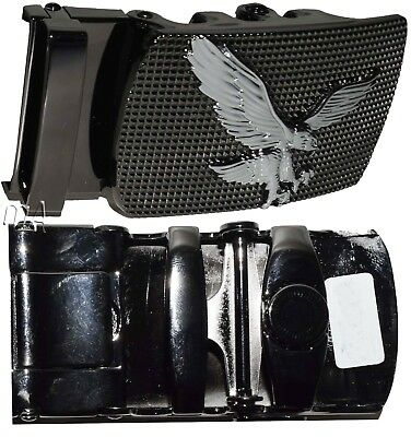 men's belt buckle ratcheting automatic self-lock track line white buckle only