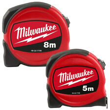 Milwaukee 5m 8m Retractable Tape Measure Metal Blade Armour Metric Imperial DIY