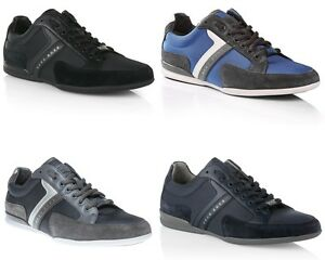 MENS-HUGO-BOSS-GREEN-LABEL-SPACIT-NAVY-BLACK-BLUE-GREY-TRAINERS-UK-6-12